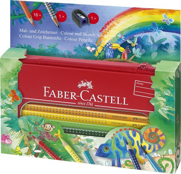 Set Cadou Desen Si Pictura Colour Grip Jungle Faber-castell imagine