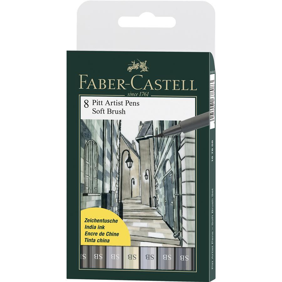 Pitt Artist Pen Soft Brush Set 8 Buc Faber-castell