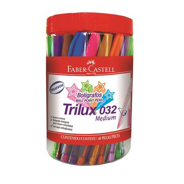 Imagine indisponibila pentru Pix Unica Folosinta Trilux 032m Borcan Plastic 48 Buc Div Culori Faber-castell
