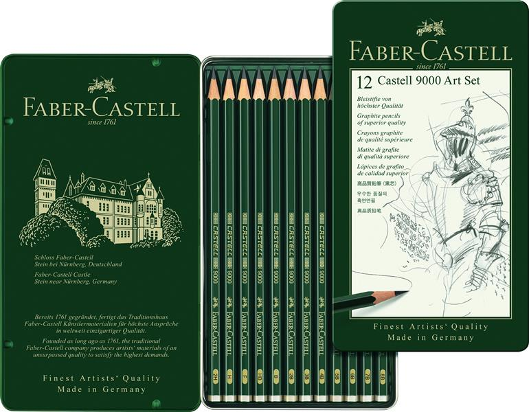 Set Arta 12 Creione Grafit Castell 9000 Faber-castell