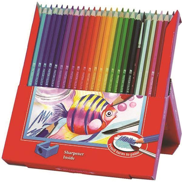 Creioane Colorate Acuarela Cu Pensula Faber-castell 24 Buc Cu Pensula