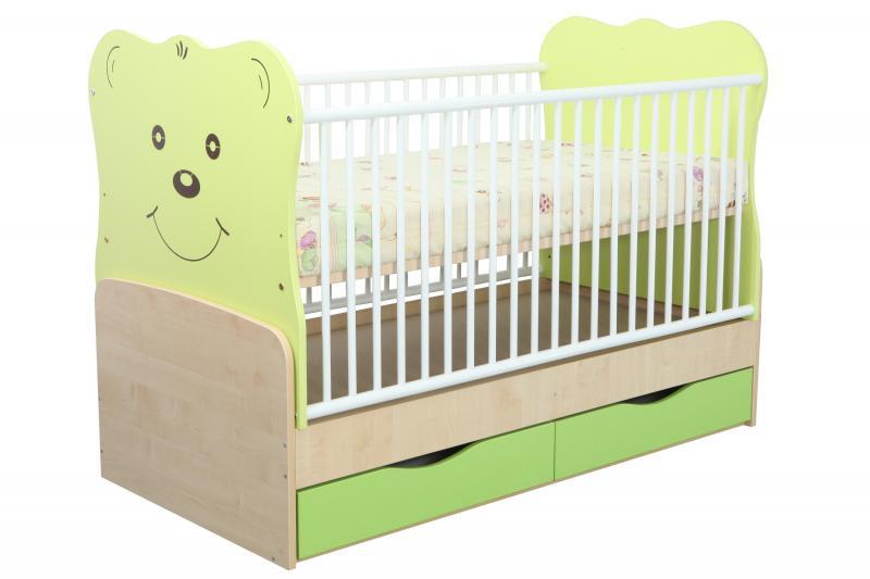 Patut Transformabil MyKids Teddy Verde Cu Leg 8099 imagine