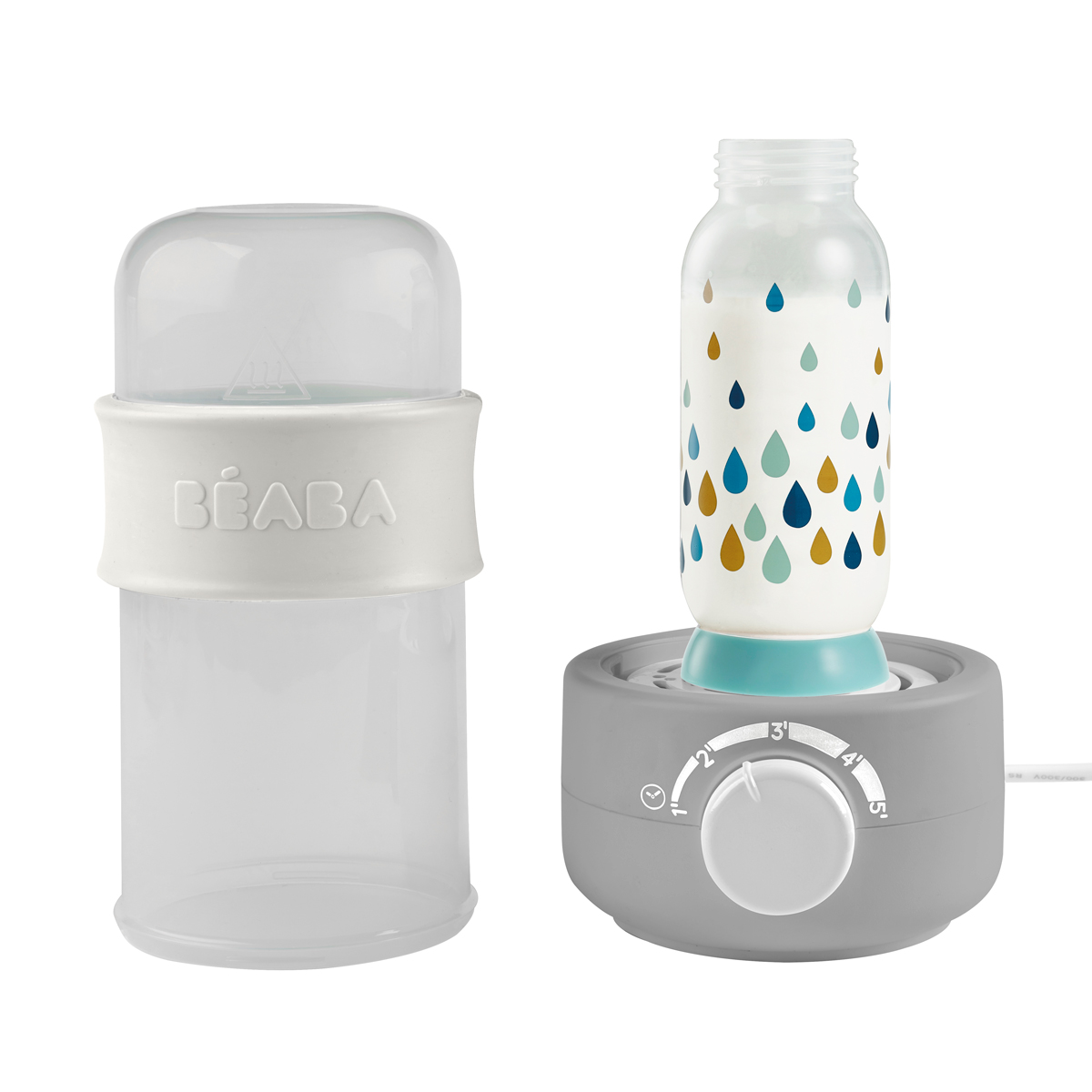 Incalzitor biberoane si sterilizator Baby Milk Secong Gri
