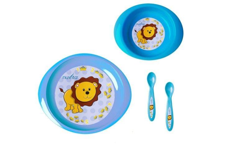 Nuvita set de masa pentru copii mici 4 buc. albastru - 1495