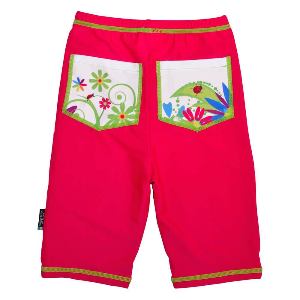 Pantaloni de baie Flowers marime 98- 104 protectie UV Swimpy imagine