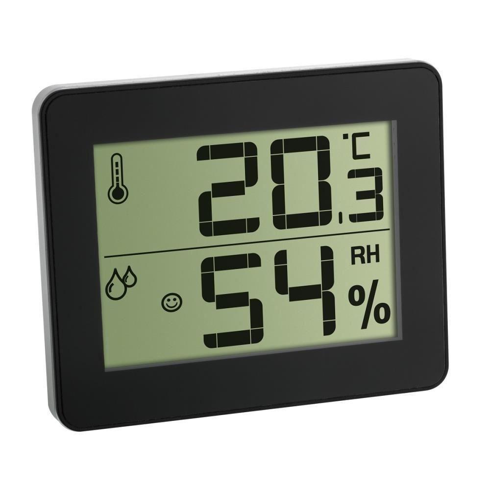 Termometru si Higrometru digital de camera extra-plat negru TFA 30.5027.01 imagine