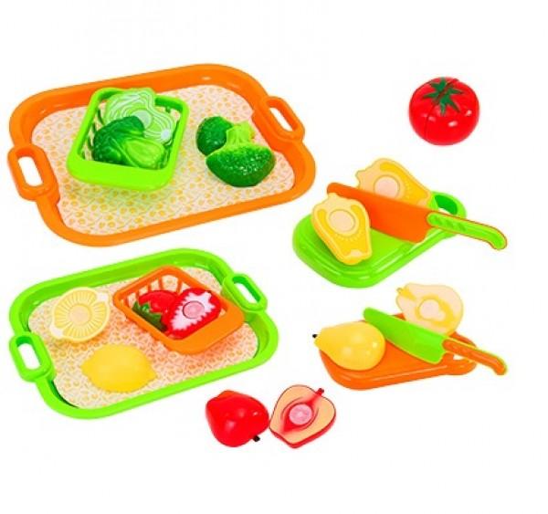 Set fructe si legume cu tava GLOBO CUCCINA pentru copii