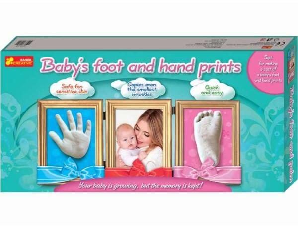 Joc pentru copii Amprenta mainii si piciorului copilului RANOK imagine