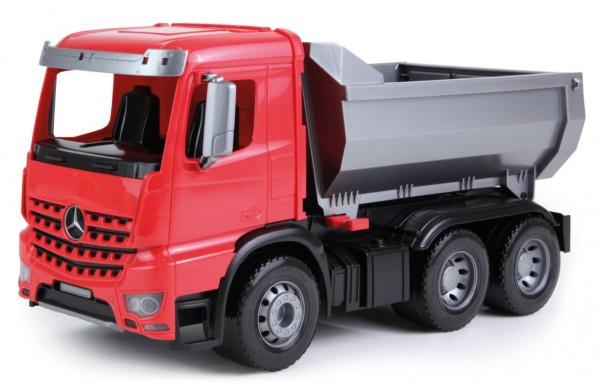 Camion cu basculanta Mercedes Arocs Worxx din plastic 45 cm