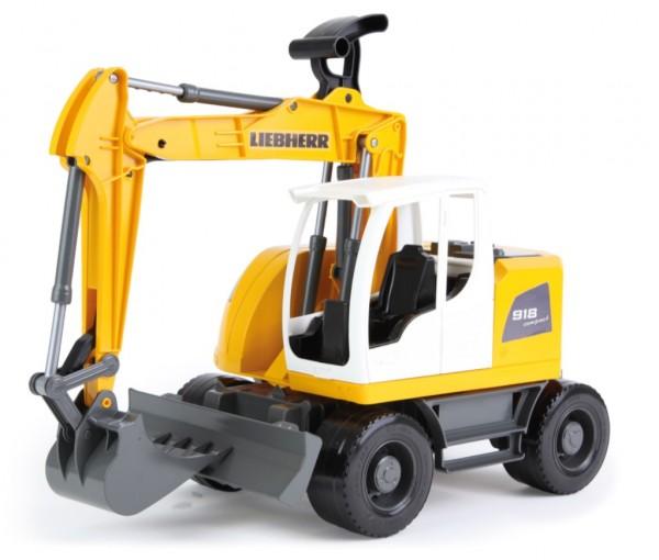 Excavator plastic Bagr Liebherr A918 Litronic Worxx cupa functionala 48 cm pentru copii
