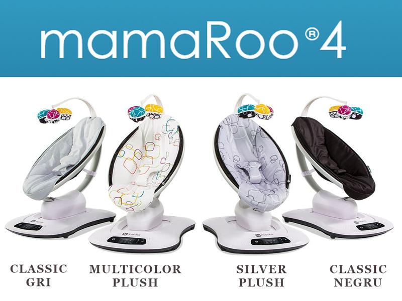 Fotoliu Balansoar Bebelusi 4MOMS MamaRoo 4.0 Classic Negru