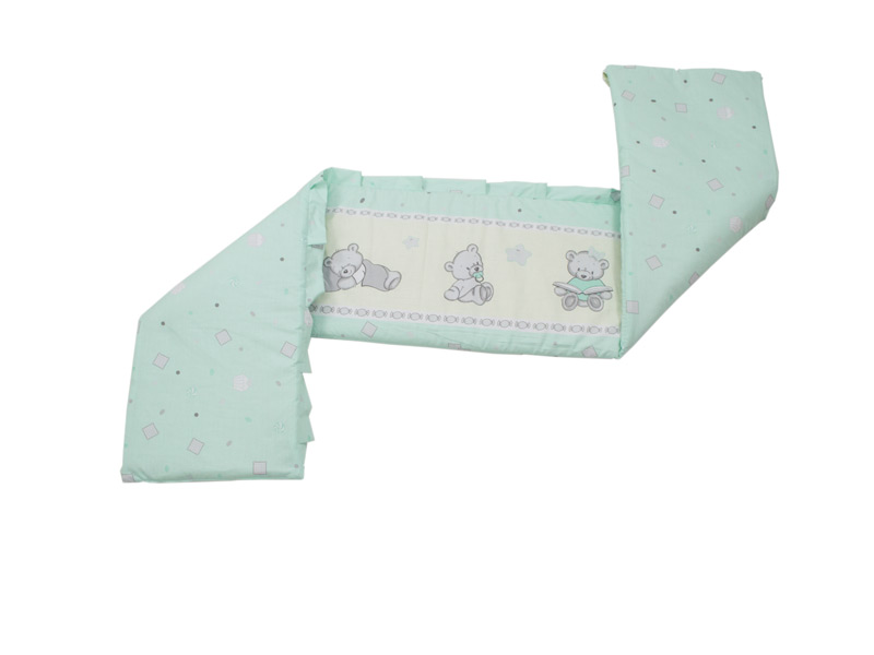 Lenjerie MyKids Teddy Toys Turquoise 4 Piese M2 120x60