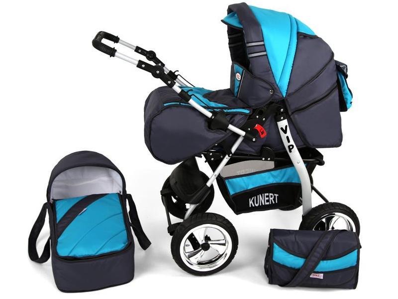 Imagine indisponibila pentru Carucior Copii 3 In 1 Kunert Volver Gri Albastru