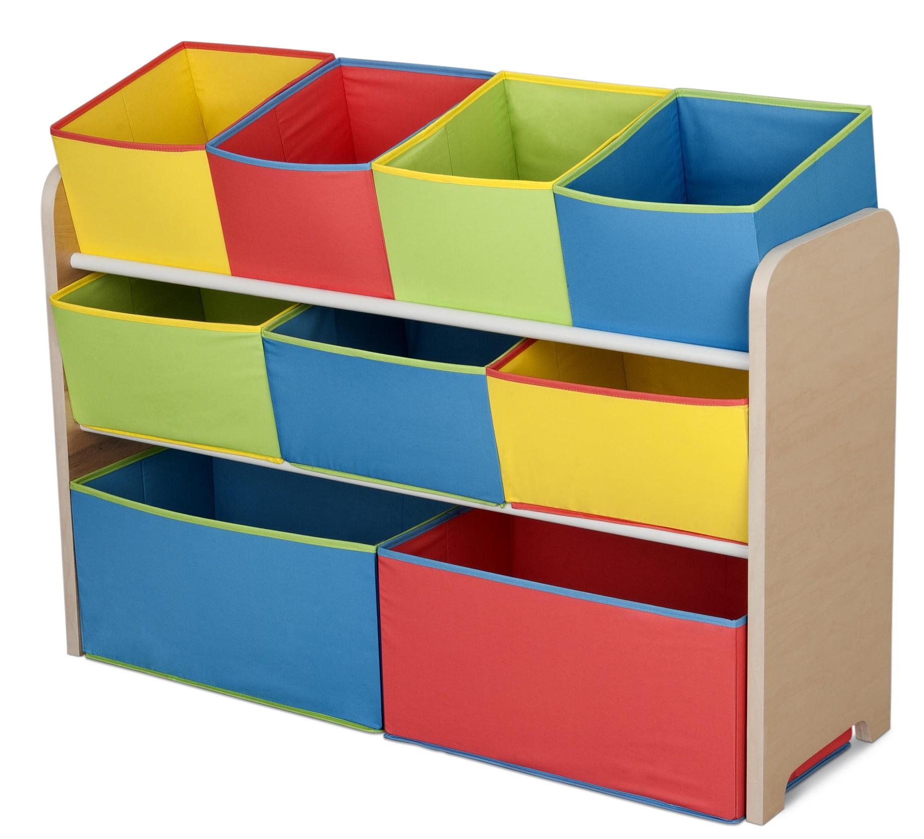 Organizator jucarii cu cadru din lemn Deluxe Multicolor imagine