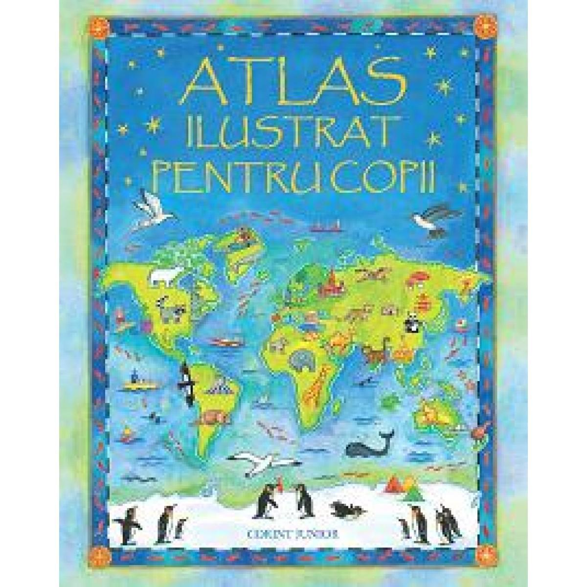 Atlas ilustrat pentru copii imagine