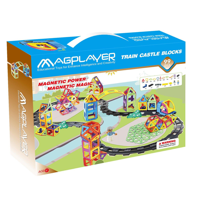 Joc de constructie magnetic - 99 piese