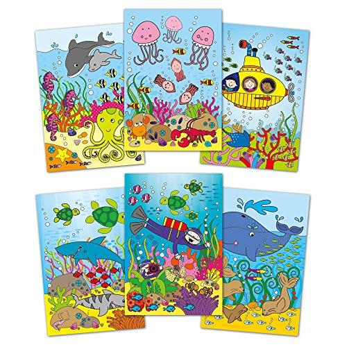Water Magic: Carte de colorat Lumea acvatica
