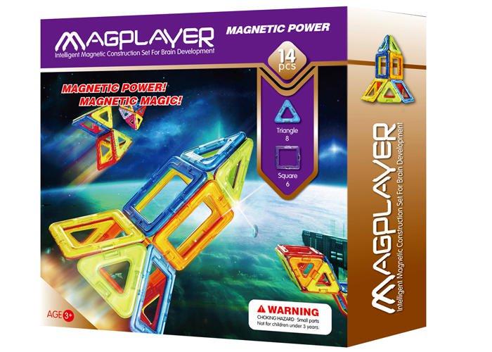 Joc de constructie magnetic - 14 piese