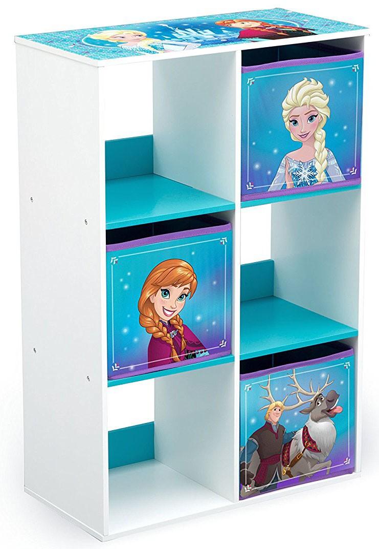 Organizator cu cadru din lemn pentru carti si jucarii Frozen Cube