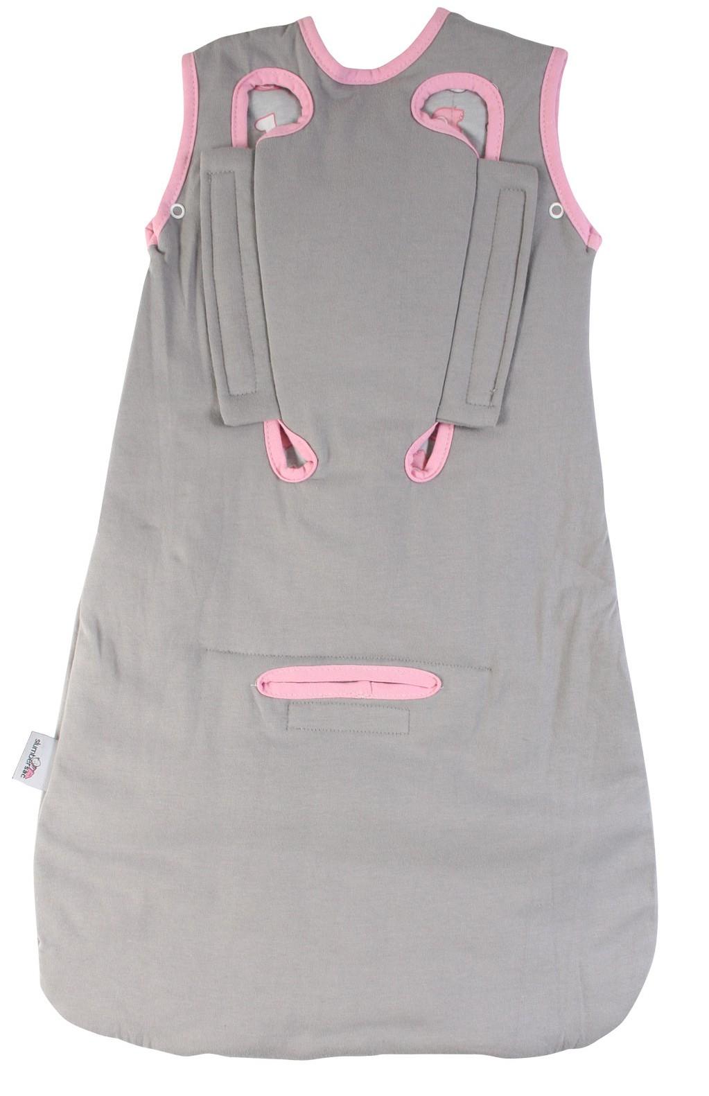 Sac de dormit multifunctional Grey Pink Elephant Travel 0-6 luni 2.5 Tog