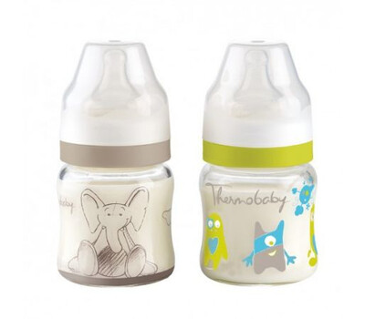 Thermobaby set 2 biberoane sticla gat larg 120ml